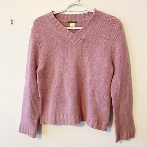 J. Crew Factory knit long sleeve purple sweater